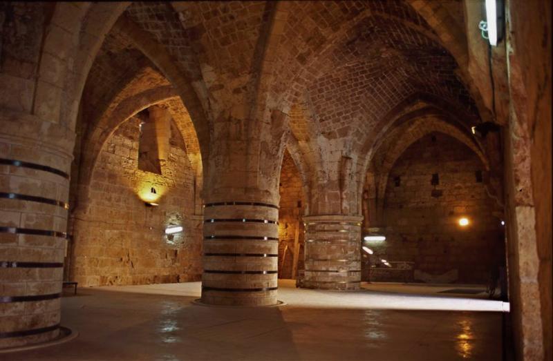 Подземный Акко, рыцарские залы