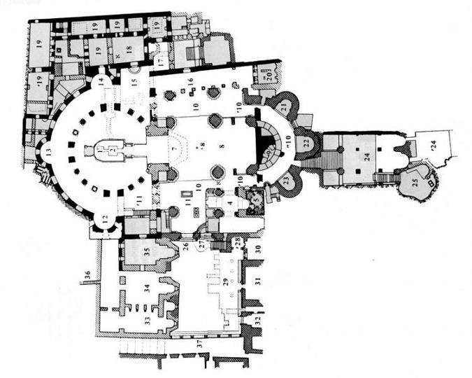 Карта Храма гроба Господня.